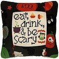 Eat Drink & Be Scary Pillow Kit - Cross Stitch Kit
