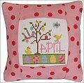 April 2011 Small Pillow Kit - Cross Stitch Kit