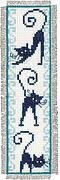 Cheerful Cats Bookmarks On Aida - Cross Stitch Kit