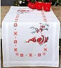 Christmas Elves Table Runner - Stamped Cross Stitch Kit