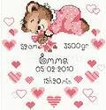 Girls Birth Announcement - Cross Stitch Kit