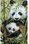 Panda With Young - Cross Stitch Kit