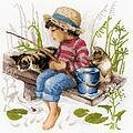 Let's Go Fishing - Cross Stitch Kit