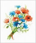 Bouquet With Cornflowers - Cross Stitch Kit