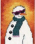 Snowman With Sunglasses - Cross Stitch Kit