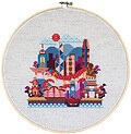 Pretty Little Hong Kong - Cross Stitch Pattern