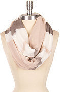Stylish Stripe Print Scarf - Beige