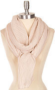 Beautiful Solid Color Crinkled Scarf - Beige
