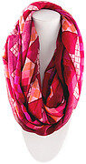Adorable Square Print Scarf - Fuchsia