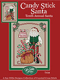 Candy Stick Santa - Cross Stitch Pattern
