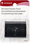 Singer All Purpose Polyester Thread - Black 150 yards