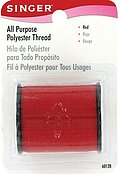 Singer All Purpose Polyester Thread - Red 150 yards