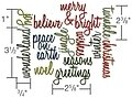 Tim Holtz Thinlits Christmas Dies - Holiday Words Script
