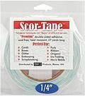 "Scor-Tape 1/4"" wide, double sided adhesive"