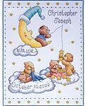 Bears In Clouds Birth Record - Cross Stitch Kit