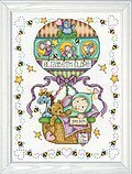 Balloon Ride Birth Record - Cross Stitch Kit