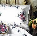 Wild Rose Pillowcase Pair - Stamped Embroidery Kit