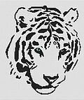 Tribal White Tiger - Cross Stitch Pattern