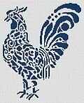Tribal Rooster - Cross Stitch Pattern
