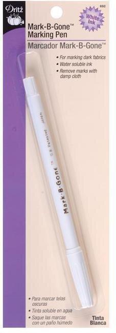 Dritz Quilting Fine Point Mark-B-Gone Marking Pen Blue