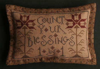 Count Your Blessing Blackberry Lane Cross Stitch Pattern