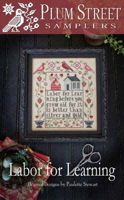 Fruits Of Our Labor Cross Stitch Chart and Free Autumn Embellishment