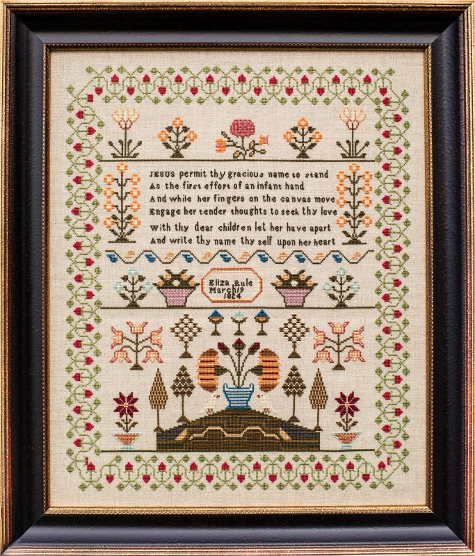 Sarah Stewart Hardman 1824 Cross Stitch Chart
