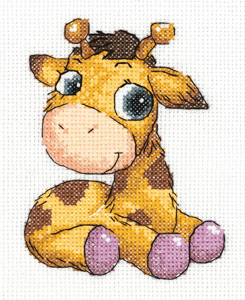 "DMC Orginal  14CT  cross stitch kits /""Giraffe/""-24cm*18cm"