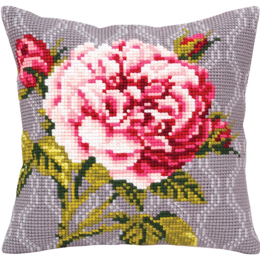 tender rose 1 stamped needlepoint cushion kit