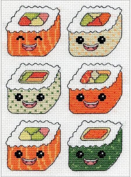 Kit \u2013 Sushi Beaded Cross Stitch Kit