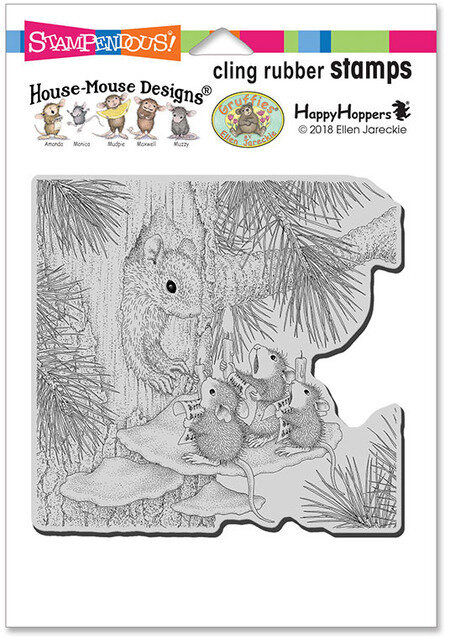 Pine Carolers HMCR121 Stampendous House Mouse Cling Stamp