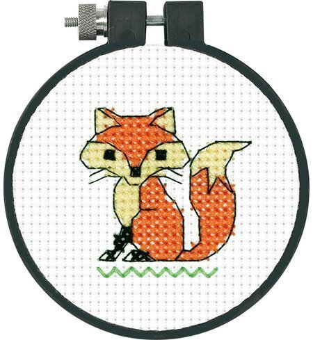 Dimensions Clever Fox Mini Counted Cross Stitch Kit for Beginners 4