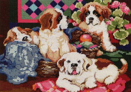 Newfoundland Dog Counted Cross Stitch Pattern