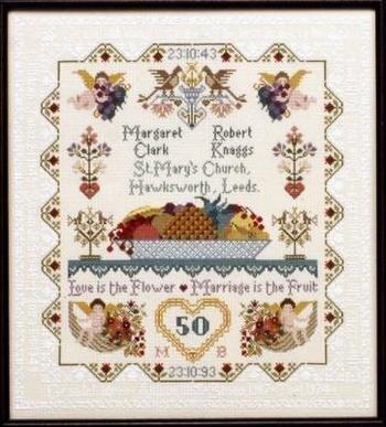 Leeds House Sampler Cross Stitch Chart and Free Embellishment