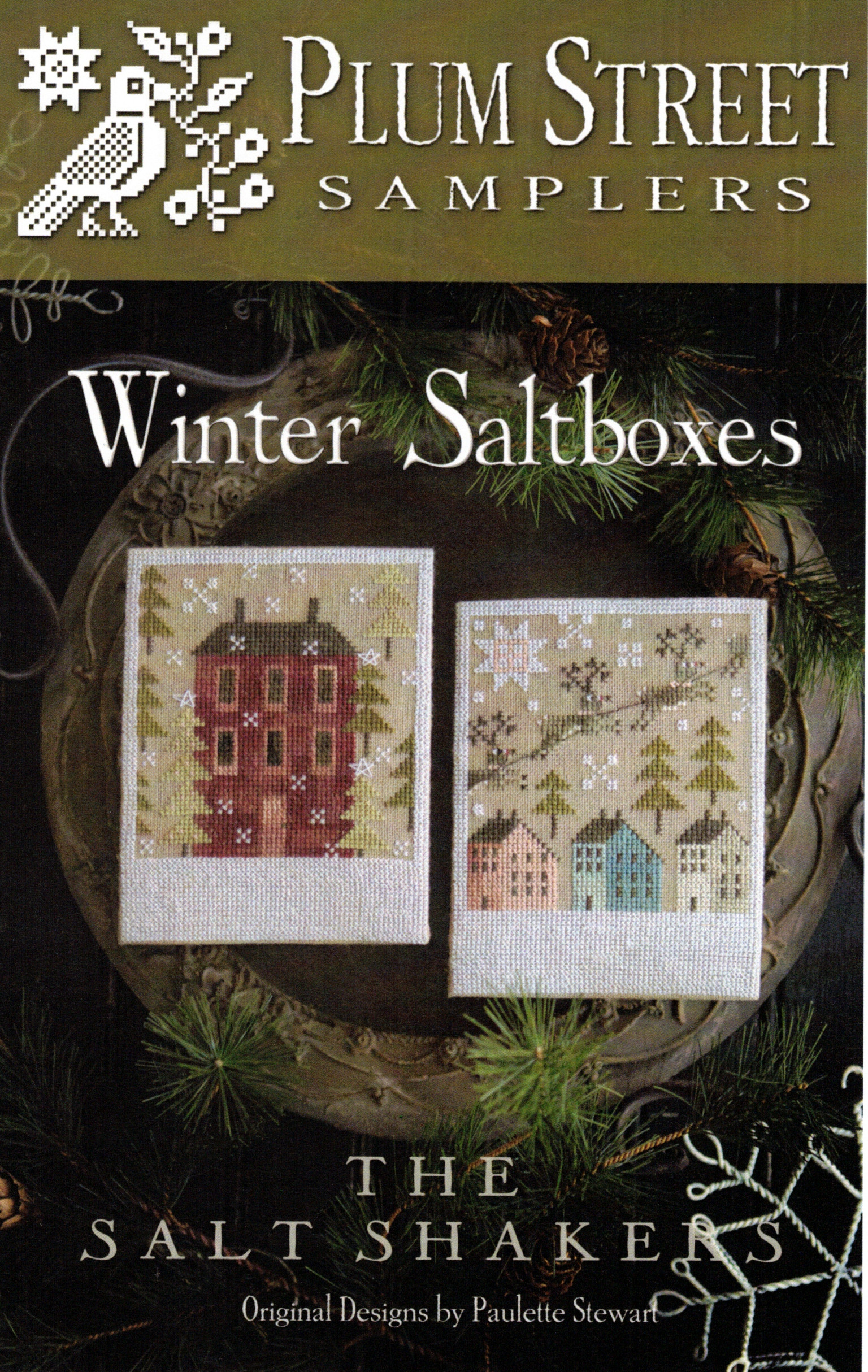 Winter Saltboxes Cross Stitch Chart