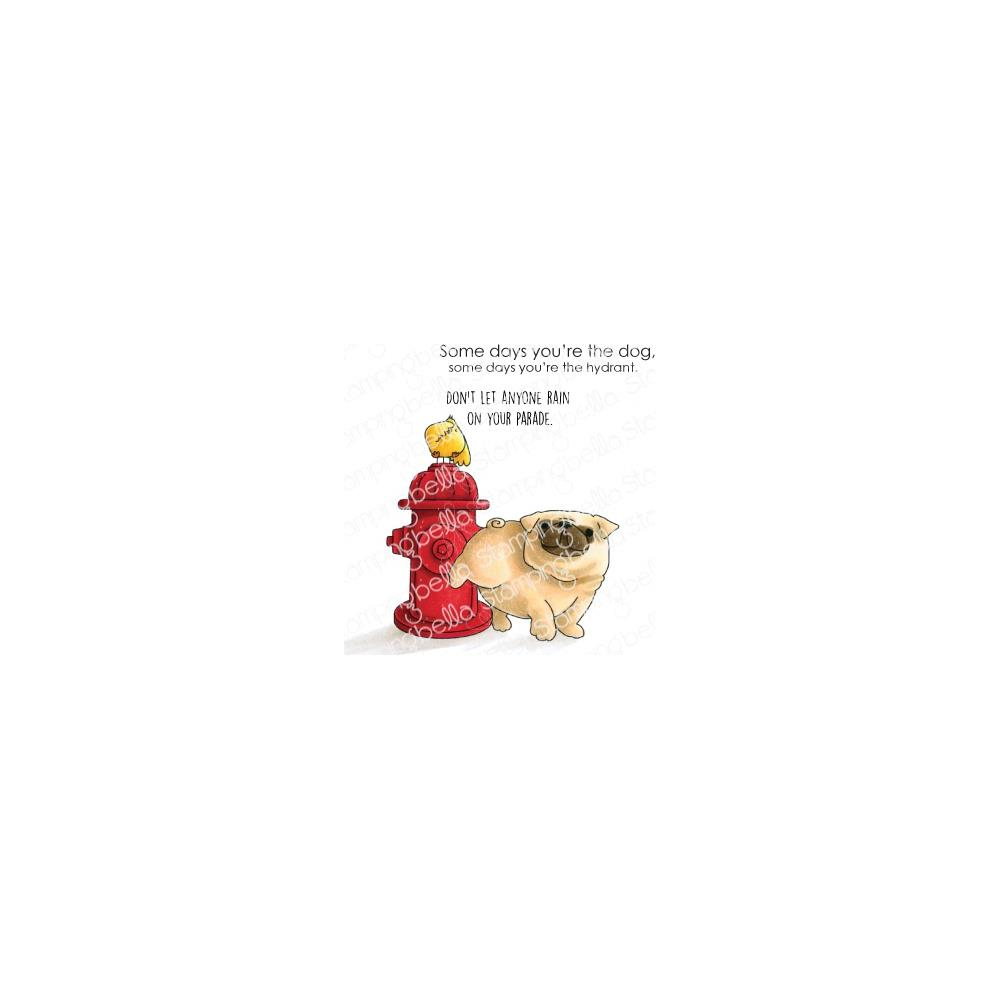 Stamping Bella Cling Stamps-The Pug /& The Hydrant