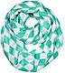 Mint Green Polyester Infinity Scarf With Block Check Pattern
